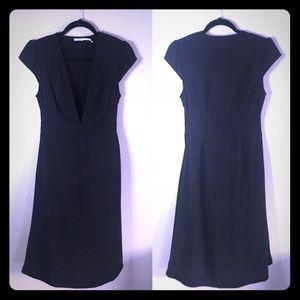 Urban Outfitters Kimchi Blue Midi Deep V Dress